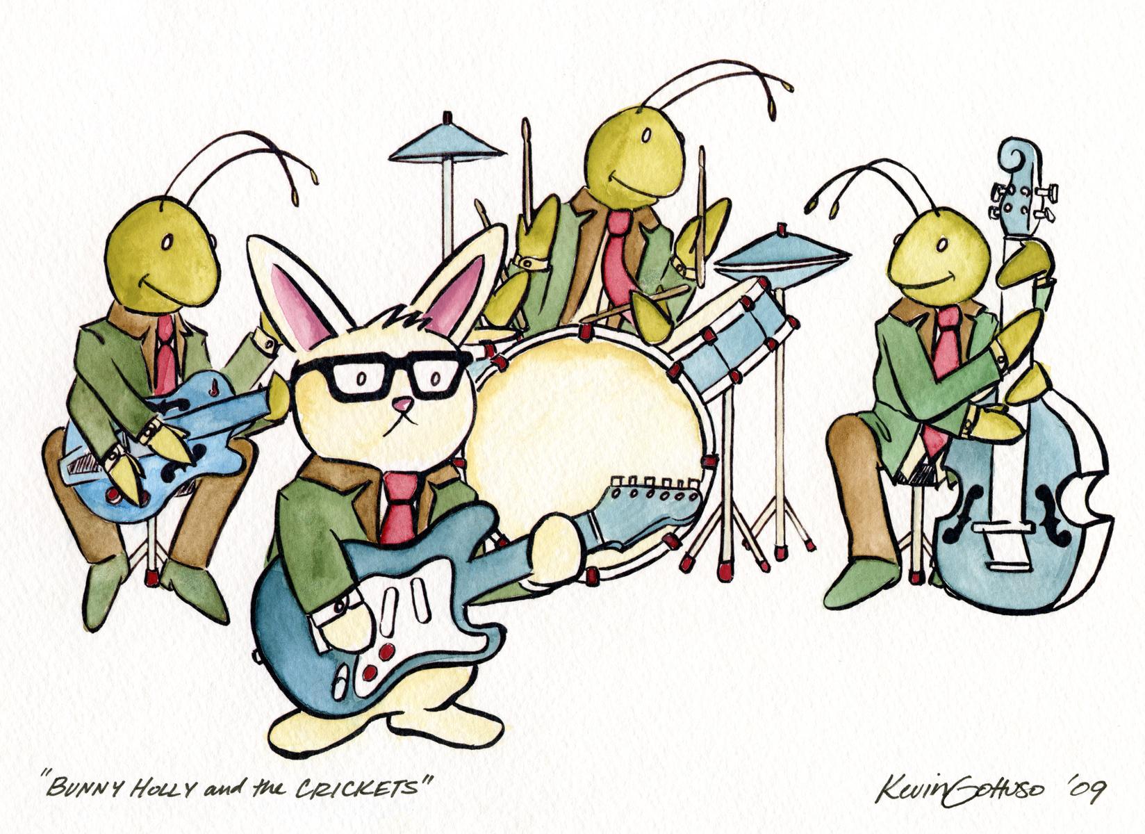 Bunny Holly Watercolor