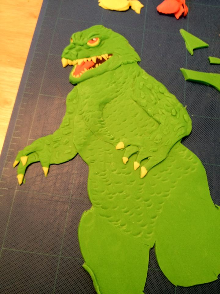 Millennium Godzilla In Progress