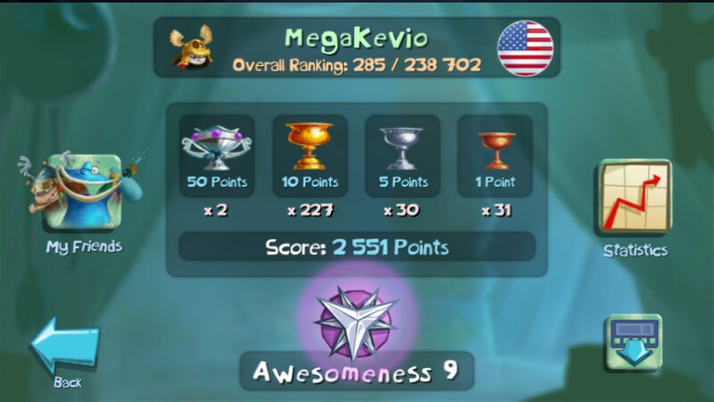 Rayman Challenge App: 285th place