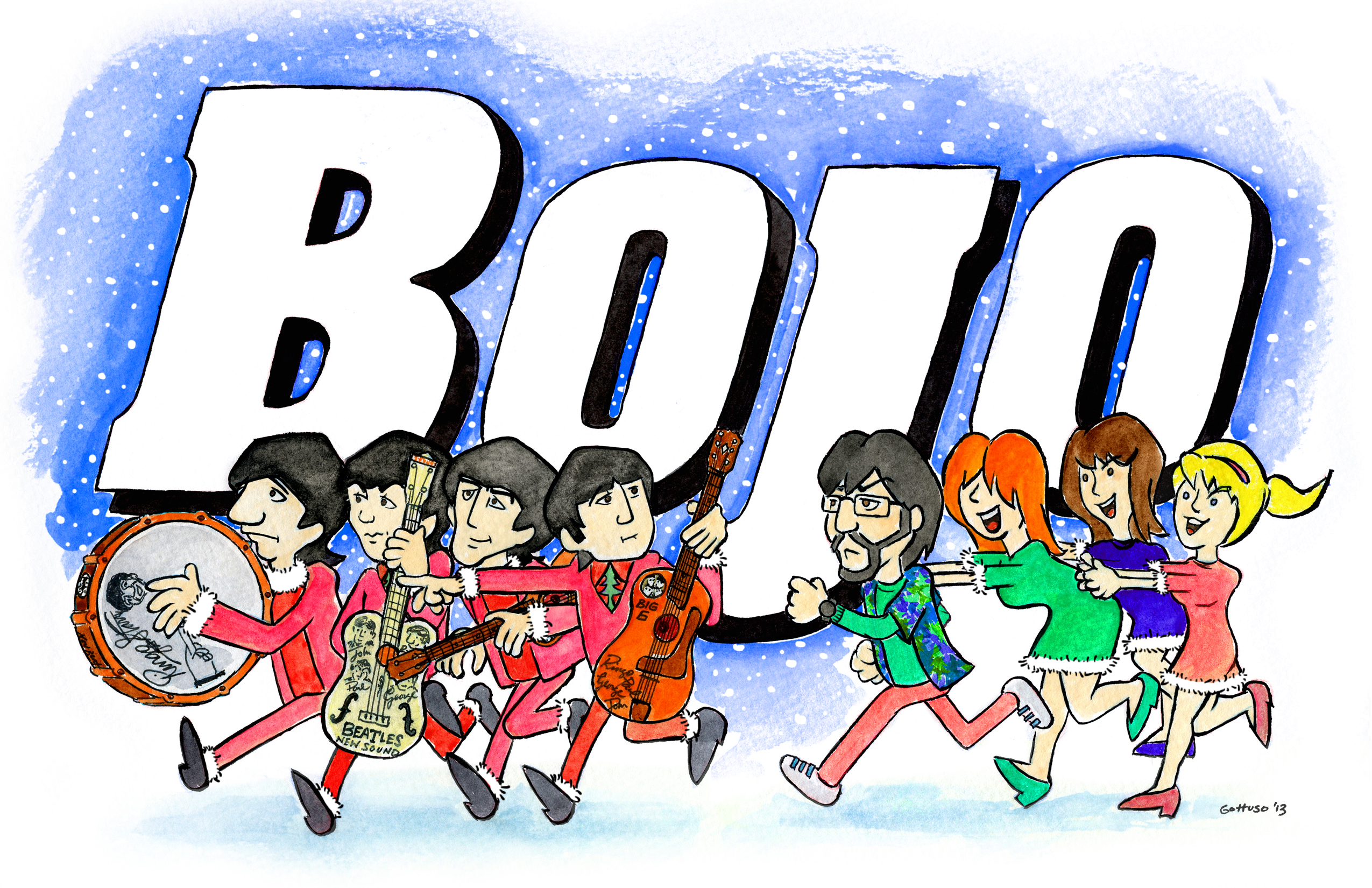 Bojo Chases Beatles Memorabilia Christmas