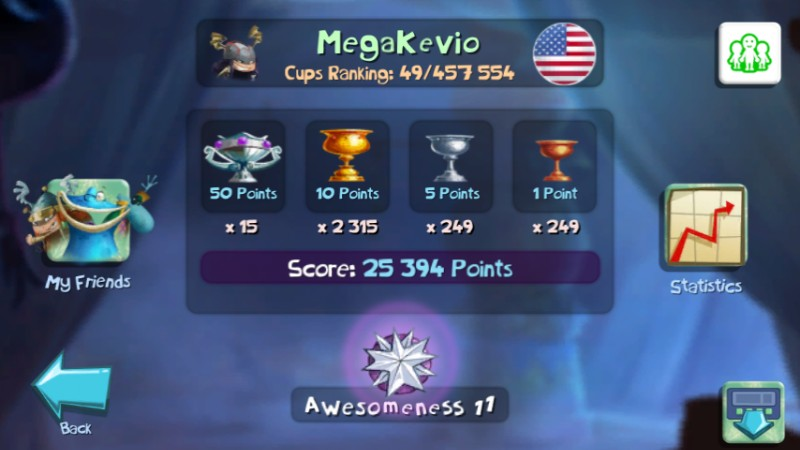 Rayman Legends 49th Place