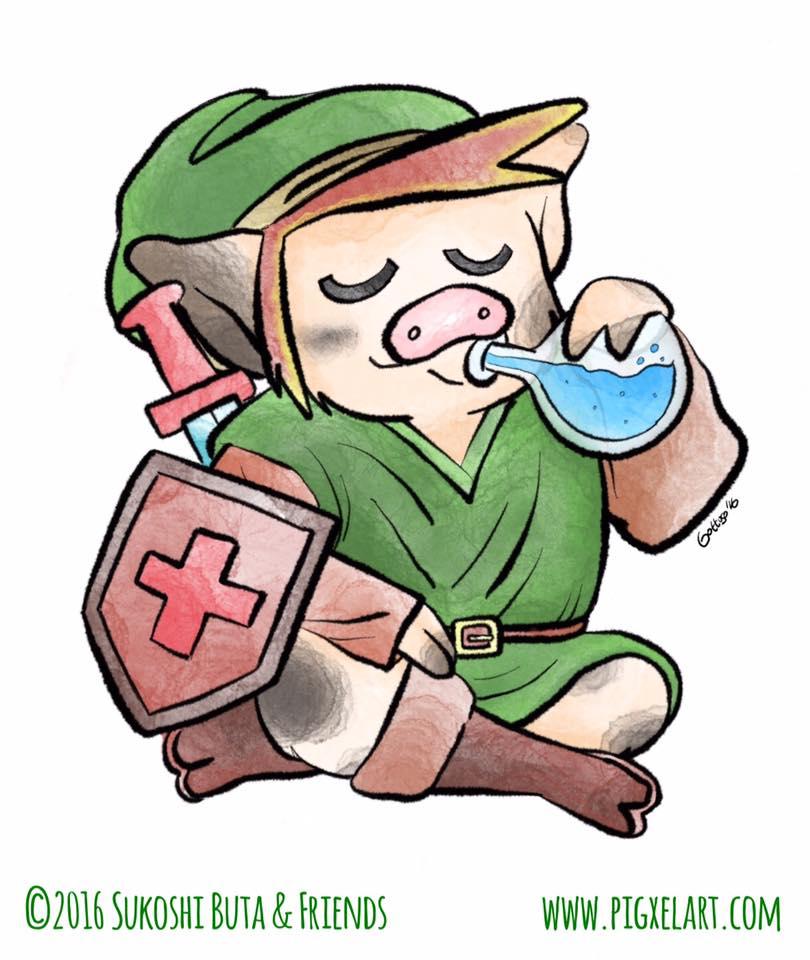 Sukoshi Buta as Legend of Zelda Pig