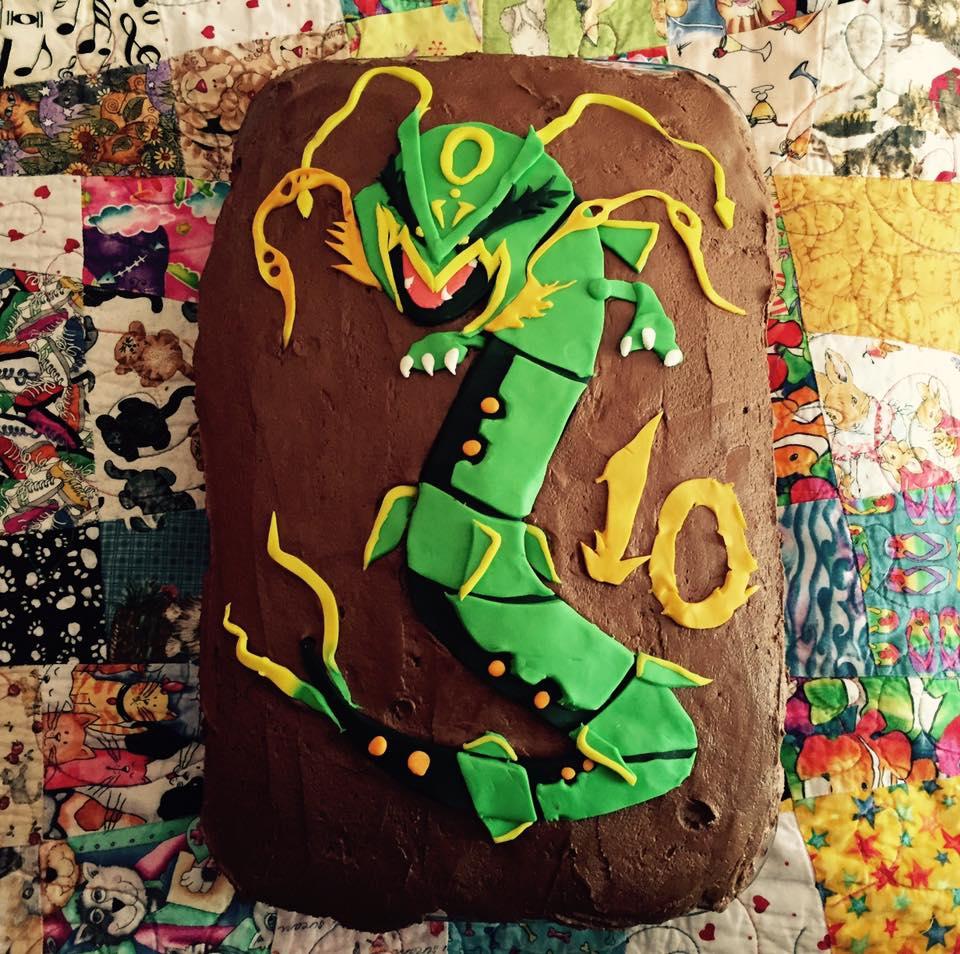 Mega Rayquaza Cake