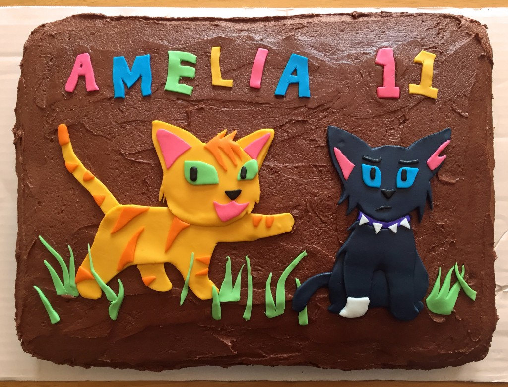 Amelia 11th Birthday Cake, Warrior Cats