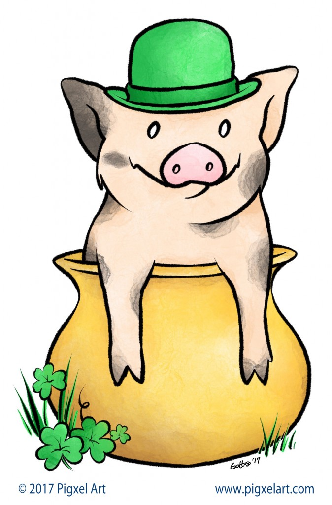 St Patricks Day Pig